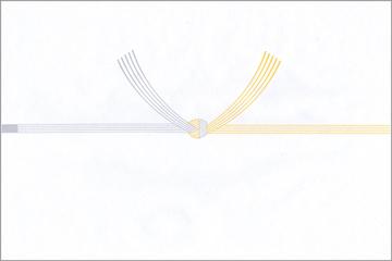 弔事のし・5本結び切り・黄白タイプ